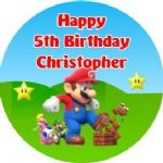 Personalised Edible Super Mario Cake Topper